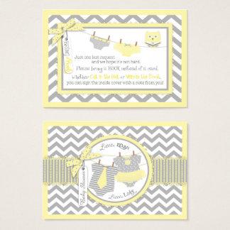 A coruja das fraldas do laço do tutu de Chevron Cartão De Visitas