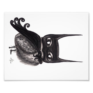 A coruja de noite escura impressão de foto