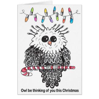 A coruja esteja pensando de você este cartão de