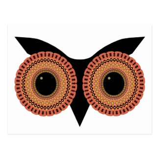 A coruja Eyes o cartão feito sob encomenda
