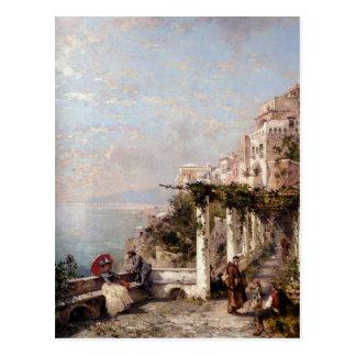 A costa de Amalfi por Franz Richard Unterberger Cartão Postal