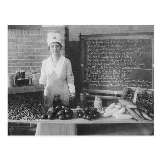 A cozinha da avó - vintage cartão postal