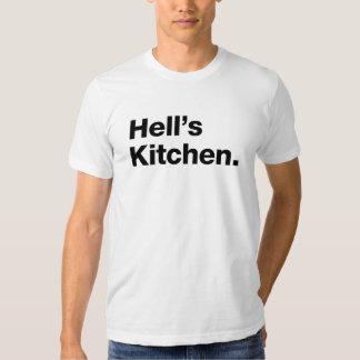 A cozinha do inferno (preto) t-shirt
