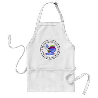 A cozinha fornece o avental do cozinhar