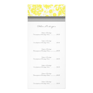A cremalheira feita sob encomenda do salão de bele panfleto informativo personalizado