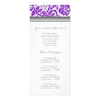 A cremalheira feita sob encomenda do salão de bele planfeto informativo colorido
