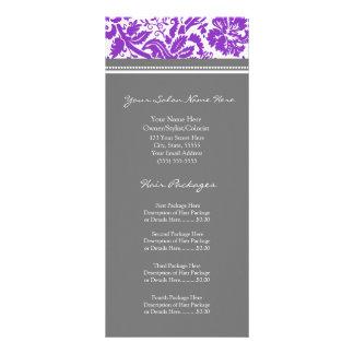 A cremalheira feita sob encomenda do salão de bele panfleto personalizado