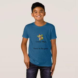 A criança Connor joga o t-shirt Camiseta