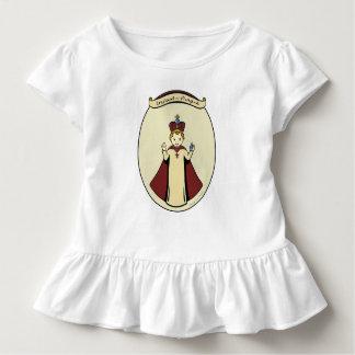 A criança de meninas de Praga ruffled o vestido