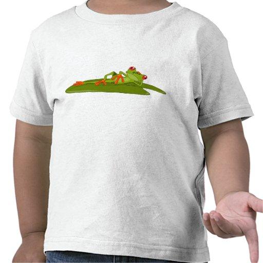 A criança de modelagem do sapo (sapo de árvore) tshirts