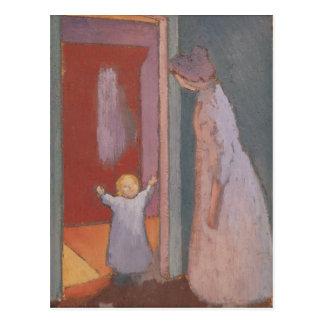 A criança na entrada, 1897 cartão postal
