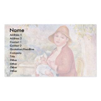 A criança no peito (maternidade), cartão de visita