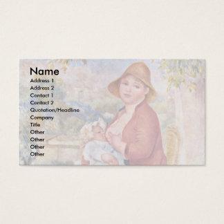 A criança no peito (maternidade), cartão de visitas