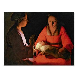 A criança recém-nascida, 1640s atrasados cartoes postais