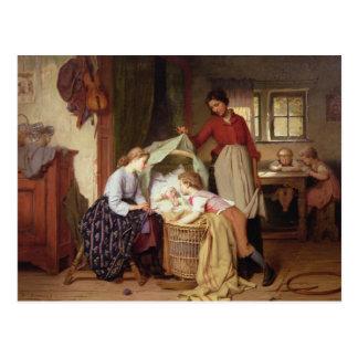 A criança recém-nascida cartoes postais