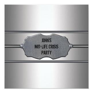 A crise meados de da vida equipa o partido de convites personalizado