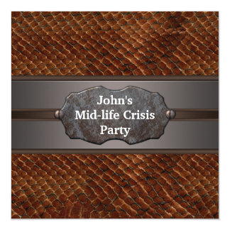 A crise meados de engraçada da vida equipa o convite personalizados