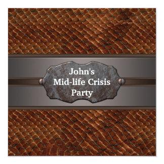 A crise meados de engraçada da vida equipa o convite quadrado 13.35 x 13.35cm