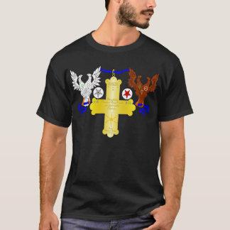 A cruz cor-de-rosa grande camiseta