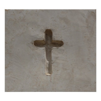 A cruz cristã primitiva personaliza a bíblia pôster