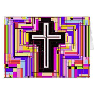 A cruz cristã religiosa cartao