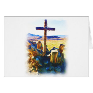 A cruz de Salvation-Saved_ Cartão Comemorativo