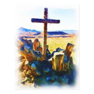 A cruz de Salvation-Saved_ Cartão Postal