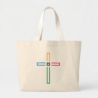 A cruz do evangelho bolsas de lona
