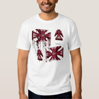 A cruz do ferro derrete o T dos homens T-shirt