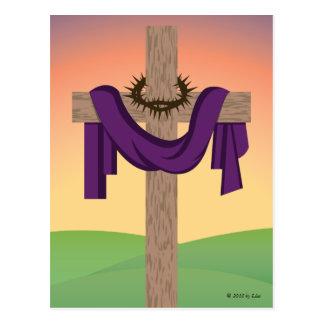 A cruz no nascer do sol cartão postal