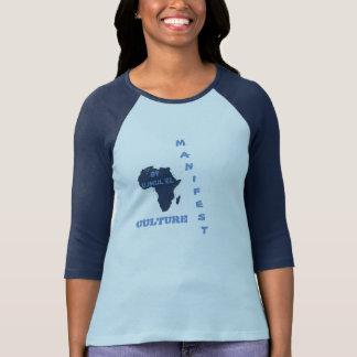 A CULTURA MANIFESTA do azul ostenta o T T-shirt