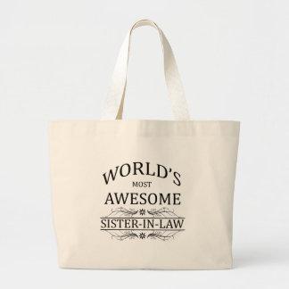 A cunhada a mais impressionante do mundo sacola tote jumbo