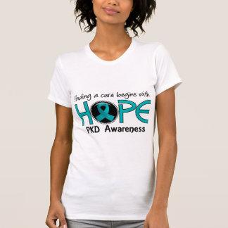 A cura começa com a esperança 5 PKD Tshirt