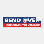 A curvatura vem aqui a mudança - Obama Adesivos