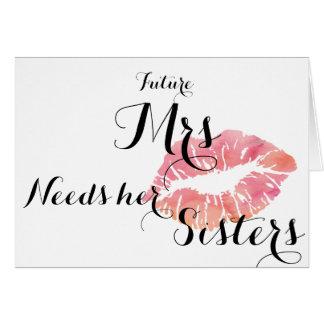 A dama de honra pede o cartão - modelo cor-de-rosa
