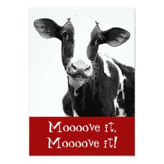 A dança até as vacas vem em casa - festa de convites