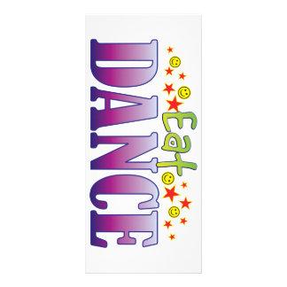 A dança come 10.16 x 22.86cm panfleto