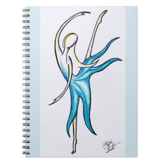 A dança como ninguém está olhando o caderno