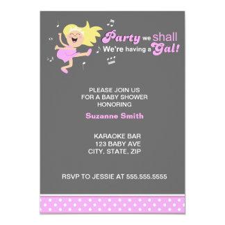 A dança cor-de-rosa Mamã-à-está chá de fraldas Convite Personalizados