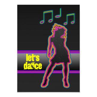 A dança de néon - deixe-nos dançar convites