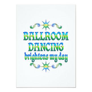 A dança de salão de baile ilumina convite