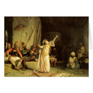 """""""A dança do Almeh"""", por Jean Leon Gerome Cartão Comemorativo"""