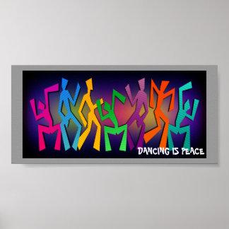 A dança do arco-íris figura o poster
