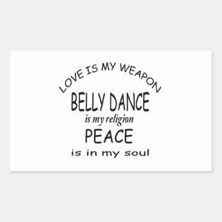 A dança do ventre é minha religião adesivo retangular