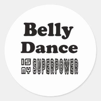 A dança do ventre é minha superpotência adesivo