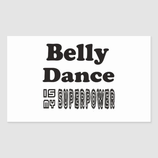 A dança do ventre é minha superpotência adesivos