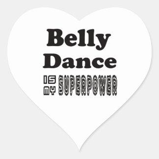 A dança do ventre é minha superpotência adesivos em forma de corações
