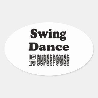 A dança do ventre é minha superpotência adesivos ovais