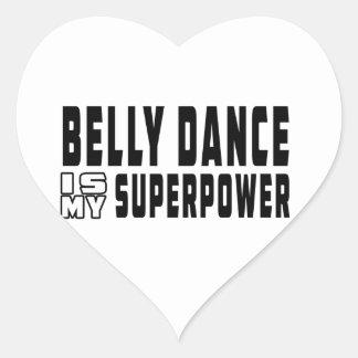 A dança do ventre é minha superpotência adesivos de corações