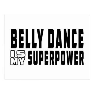 A dança do ventre é minha superpotência cartao postal